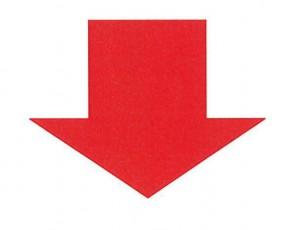 矢印 赤下向き1